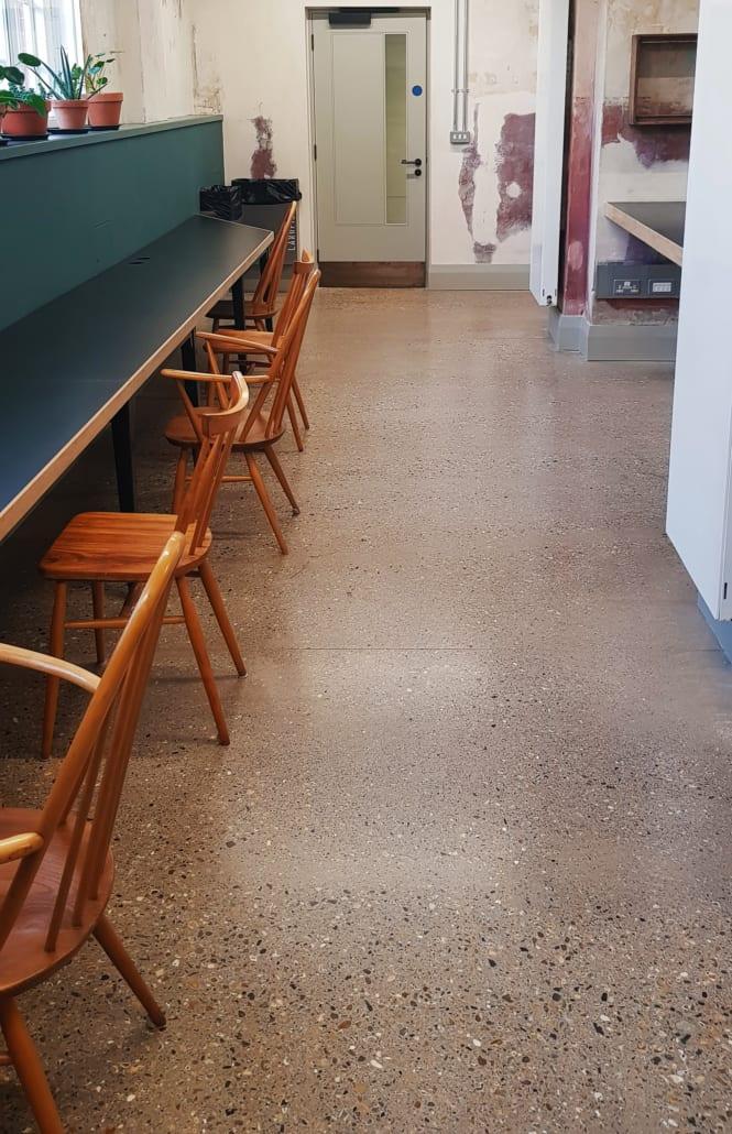 Battersea Exposed Aggregate Floor